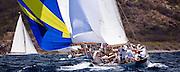 Lone Fox sailing in the Windward Race at the Antigua Classic Yacht Regatta.