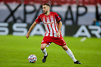 PIRAEUS, GREECE - NOVEMBER 25: Kostas Fortounis of Olympiacos FC during the UEFA Champions League Group C stage match between Olympiacos FC and Manchester City at Karaiskakis Stadium on November 25, 2020 in Piraeus, Greece. (Photo by MB Media)
