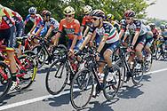 Domenico Pozzovivo (ITA - Bahrain - Merida) - Fabio Aru (ITA - UAE Team Emirates) during the 101th Tour of Italy, Giro d'Italia 2018, stage 13, Ferrara - Nervesa della Battaglia 180 km on May 18, 2018 in Italy - Photo Luca Bettini / BettiniPhoto / ProSportsImages / DPPI