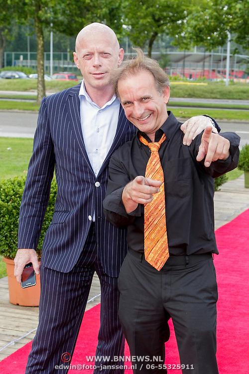 NLD/Amsterdam/20120813 - Premiere Sensations van Circus Herman Renz, Johan Vlemmix en zijn campagneleider voor de aankomende verkiezingen