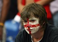 Photo: Chris Ratcliffe.<br /> England v Portugal. Quarter Finals, FIFA World Cup 2006. 01/07/2006.<br /> England fan gutted.