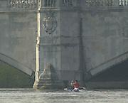 Putney to Mortlake, Thames World Sculling Challenge<br /> <br /> Photo Peter Spurrier<br /> 29/03/2002<br /> 2002 Thames World Sculling Challenge<br /> Iztok Cop, after winning the 2002 TWSC at W4 bridge
