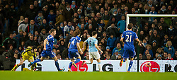 15.02.2014, Etihad Stadion, Manchester, ESP, FA Cup, Manchester City vs FC Chelsea, Achtelfinale, im Bild Manchester City's Samir Nasri scores the second goal against Chelsea // during the English FA Cup Round of last 16 Match between Manchester City and FC Chelsea at the Etihad Stadion in Manchester, Great Britain on 2014/02/15. EXPA Pictures © 2014, PhotoCredit: EXPA/ Propagandaphoto/ David Rawcliffe<br /> <br /> *****ATTENTION - OUT of ENG, GBR*****