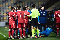 during football match between U21 Slovenia national team and U21 Russia national team in a frienly football match, on November 17, 2020 in Ljudski Vrt, Maribor, Slovenia. Photo by Blaž Weindorfer / Sportida