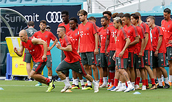 July 27, 2018 - Miami Gardens, FL, USA - FC Bayern players during a practice in advance of an International Champions Cup match against Manchester City at Hard Rock Stadium in Miami Gardens, Fla., on Friday, July 27, 2018. (Credit Image: © Pedro Portal/TNS via ZUMA Wire)