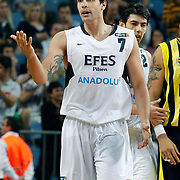Efes Pilsen's Cenk AKYOL during their Turkish Basketball Legague Play-Off semi final second match Efes Pilsen between Fenerbahce at the Sinan Erdem Arena in Istanbul Turkey on Friday 27 May 2011. Photo by TURKPIX