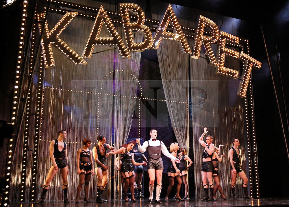 © Licensed to London News Pictures. 08/10/2012. London, U.K..Will Young and Michelle Ryan on stage at the Savoy Theatre in London, today (8/10/12), before their West End musical theatre debuts in The classic musical 'CABARET' by Kander & Ebb. Will Young plays the character Emcee( Master of Ceremonies at the Kit Kat Klub), and Michelle Ryan as  Sally Bowles (a performer at the club). The show opens on Tuesday 9th October 2012..Photo credit : Rich Bowen/LNP