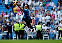 """Spanish  League""- match Real Madrid Vs FC Barcelona- season 2014-15 - Santiago Bernabeu Stadium - Iker Casillas (Real Madrid)warm up before the Spanish League match against FC Barcelona (Photo: Guillermo Martinez / Bohza Press / Alter Photos)"