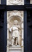 Statue Saint Edmund, Bury St Edmunds, Suffolk, England by Michael Vyne Treleavan 1910