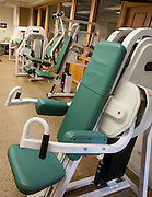 Weight room at Hillcrest Fitness Center at Hillcrest Retirement Community in La Verne, CA