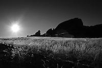 Inselberg of Mirabib at sunrise, Mirabib, Namibia
