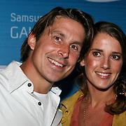 NLD/Amsterdam/20110823 - Presentatie Samsung Galaxy Tab, Lodewijk Hoekstra en partner Kristel Reijnhout