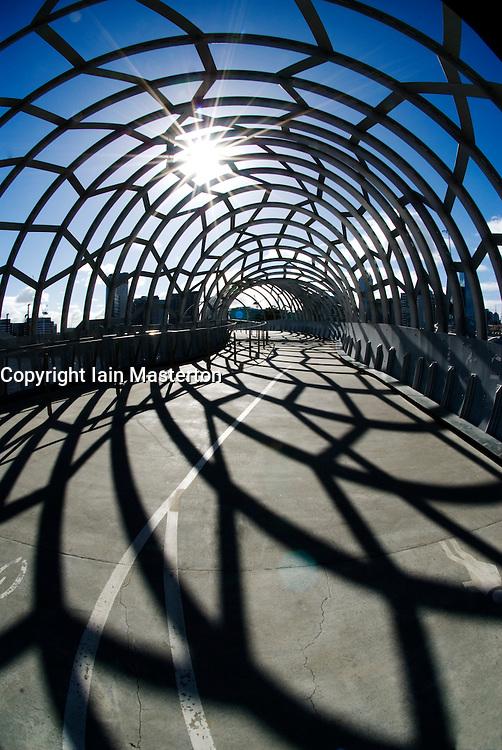 Webb Bridge steel footbridge in Melbourne Australia