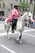 13 June 2010-New York, NY- Participant at the 2010 Puerto Rican Day Parade held along Fifth Ave from West 44th to West 79th Streets. Crowds estimated up to 2 million enjoyed the music, people and float that lined the Parade route.
