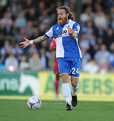 Bristol Rovers' Stuart Sinclair - Photo mandatory by-line: Alex James/JMP - Mobile: 07966 386802 - 04/10/2014 - SPORT - Football - Bristol - Stoke Gifford Stadium - Bristol Academy Womens v Notts County Ladies - Womens Super League