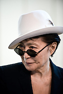 06.06.2013. Humlebaek, Denmark. Yoko Ono's press conference for the opening of the exhibition Yoko Ono Half A Wind Show A Retrospective at the Lousiana Museum of Modern Art.Photo: © Ricardo Ramirez