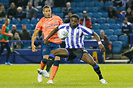 Dominic Iorfa of Sheffield Wednesday shields the ball from Dominic Calvert-Lewin of Everton  during the EFL Cup match between Sheffield Wednesday and Everton at Hillsborough, Sheffield, England on 24 September 2019.
