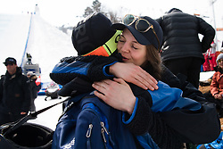 February 18, 2018 - Pyeongchang, SOUTH KOREA - 180218 Emma DahlstrÅ¡m and Henrik Harlaut of Sweden after his last run in the Men's Slopestyle Finale during day nine of the 2018 Winter Olympics on February 18, 2018 in Pyeongchang..Photo: Petter Arvidson / BILDBYRN / kod PA / 91979 (Credit Image: © Petter Arvidson/Bildbyran via ZUMA Press)