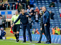 Football - 2021 / 2022 EFL Sky Bet Championship - Blackburn Rovers versus West Bromwich Albion - Ewood Park - Saturday 21st August 2021<br /> <br /> West Bromwich Albion manager Valerian Ismael and Blackburn Rovers manager Tony Mowbray in the technical area, at Ewood Park.<br /> <br /> COLORSPORT/Alan Martin