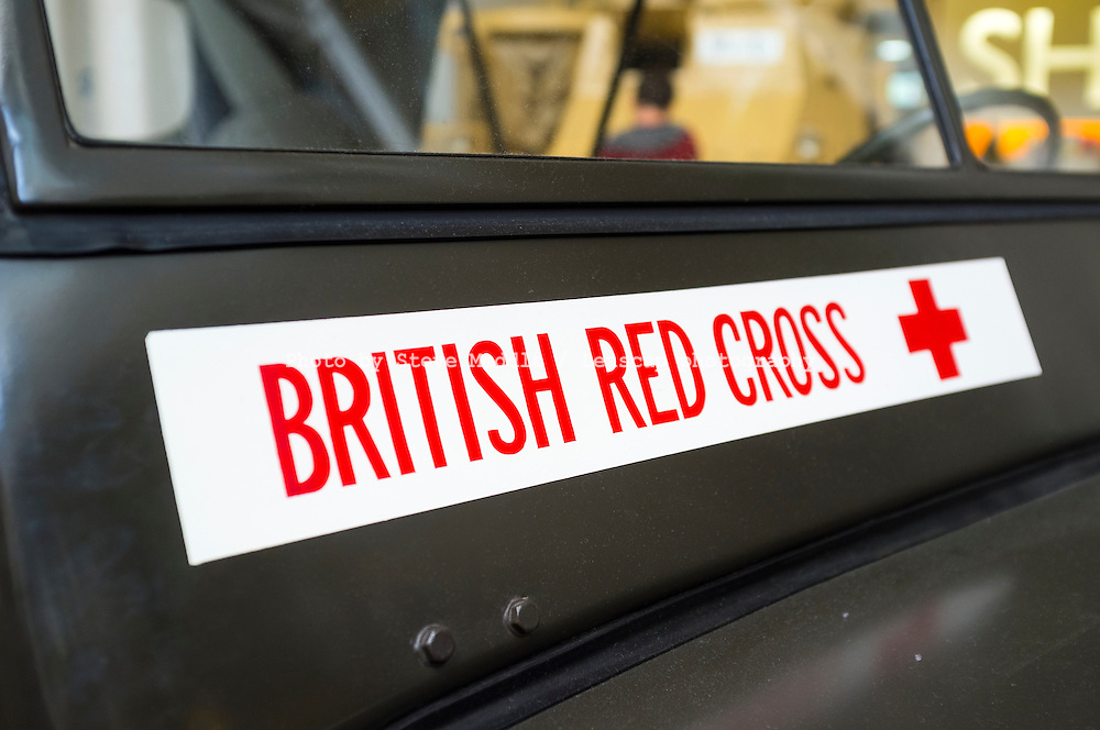 British Red Cross Sign on Front of Willys Jeep - Aug 2012.