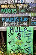 Fruit stand, Hana Coast, Maui, Hawaii