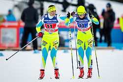 Eva Urevc (SLO) and Manca Slabanja (SLO) during the ladies team sprint race at FIS Cross Country World Cup Planica 2016, on January 17, 2016 at Planica, Slovenia. Photo by Ziga Zupan / Sportida