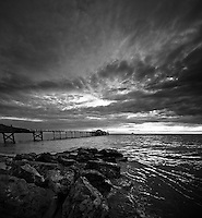 Wide angle evenings at Totland Bay, Isle of Wight