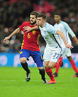 Football - 2016 / 2017 International Friendly - England vs. Spain<br /> <br /> Nacho of Spain and Aaron Cresswell of England at Wembley.<br /> <br /> COLORSPORT/ANDREW COWIE