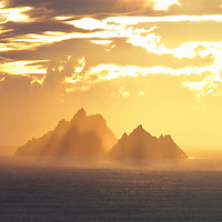 Golden Skellig Sunset, County Kerry, Ireland ****** <br /> <br /> Visit & browse through my Photography & Art Gallery, located on the Wild Atlantic Way & Skellig Ring between Waterville and Ballinskelligs (Skellig Coast R567), only 3 minutes from the main Ring of Kerry road.<br /> https://goo.gl/maps/syg6bd3KQtw<br /> <br /> ******<br /> <br /> Contact: 085 7803273 from an Irish mobile phone or +353 85 7803273 from an international mobile phone