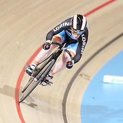 APELDOORN (NED) wielrennen  <br /> Kyra Lamberink (Bergentheim) plaatst zich als snelste op de 500meter tijdens het Nederlands Kampioenschap baanwielrennen in Apeldoorn