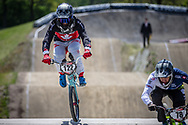 #122 (TOUGAS Alex) CAN during practice of Round 3 at the 2018 UCI BMX Superscross World Cup in Papendal, The Netherlands