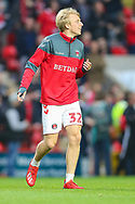 Charlton Athletic midfielder George Lapslie (32) during the EFL Sky Bet League 1 second leg Play-Off match between Charlton Athletic and Doncaster Rovers at The Valley, London, England on 17 May 2019.