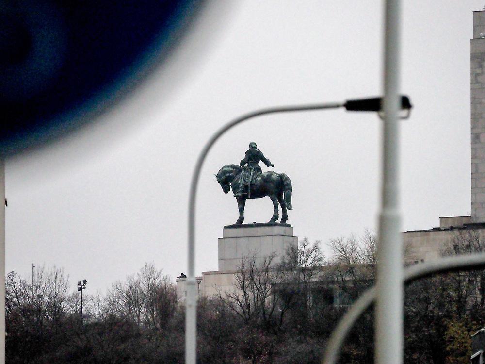 The Jan Žižka monument in Žižkov.