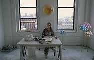New York. Brooklyn. DUMBO area, artist studio in Brooklyn; Tatiana Murray sculptor (UK)  New York  Usa   /   Dumbo, atelier d'artistes à Brooklyn;  Tatiana Murray sculpteur (UK)  New York  USa