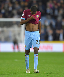 West Ham United's Issa Diop leaves the pitch after the final whistle of the Premier League match at the John Smith's Stadium, Huddersfield.