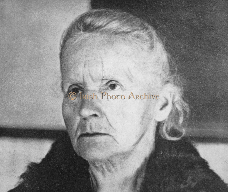 Marie Curie (1867-1934) Polish-born French physicist in 1931