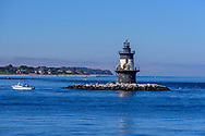 Orient Point Light is a sparkplug lighthouse off Orient Point, New York