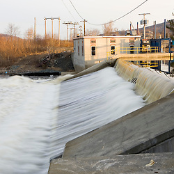 A dam on the Upper Ammonoosuc River in Groveton, New Hampshire.