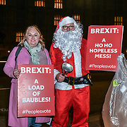 "Santa ""Vote down May's deal"" London, UK"