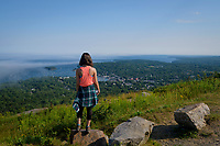 View of Camden, Maine, from Mount Battie in Camden Hills State Park.