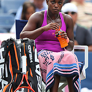 Sloane Stephens, USA, in action against Serena Williams, USA,  during the Women's Singles competition at the US Open. Flushing. New York, USA. 1st September 2013. Photo Tim Clayton