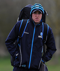 Somerset's Craig Overton - Photo mandatory by-line: Harry Trump/JMP - Mobile: 07966 386802 - 23/03/15 - SPORT - CRICKET - Pre Season Fixture - Day 1 - Somerset v Glamorgan - Taunton Vale Cricket Club, Somerset, England.