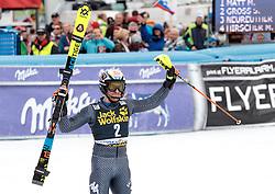 05.03.2017, Podkoren, Kranjska Gora, SLO, FIS Weltcup Ski Alpin, Kranjska Gora, Slalom, Herren, 2. Lauf, im Bild Stefano Gross (ITA, 2. Platz) // second placed Stefano Gross of Italy reacts after his 2nd run of men's Slalom of FIS ski alpine world cup at the Podkoren in Kranjska Gora, Slovenia on 2017/03/05. EXPA Pictures © 2017, PhotoCredit: EXPA/ Johann Groder