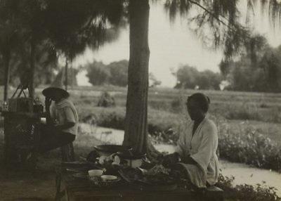 Warong langs een weg op Midden-Java, 1928 - 1932