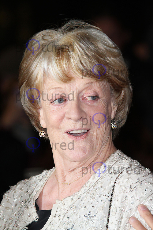LONDON - OCTOBER 15: Dame Maggie Smith attended the screening of 'Quartet' at the Odeon, Leicester Square, London, UK. October 15, 2012. (Photo by Richard Goldschmidt)