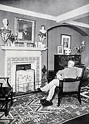 Alfred Austin (1835-1913) British poet laureate from 1896. Austin at home at Swinford Old Manor, Ashford, Kent, c1903