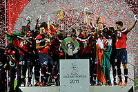 FOOTBALL - FRENCH CHAMPIONSHIP 2010/2011 - L1 - LILLE OSC v STADE RENNAIS - 29/05/2011 - PHOTO GUY JEFFROY / DPPI - CELEBRATION LILLE