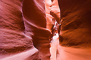 Slot canyon in Spooky Gulch, Grand Staircase-Escalante National Monument, Utah