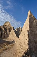 Badlands formations. Badlands National Park South Dakota
