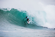 Michael February ZAF surf in round two after placing 3rd in round one heat 7 at the 2018 Margaret River Pro, Western Australia<br />  at the 2018 Margaret River Pro, Western Australia at the 2018 Margaret River Pro, Western Australia . FOR EDITORIAL NEWS USE ONLY
